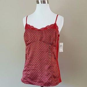 Camisole Ann Taylor Red Medium Original Tags
